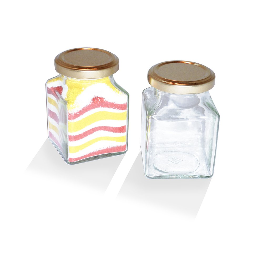Glass Jar With Gold Lid 4oz Glass And Acrylic Crafts