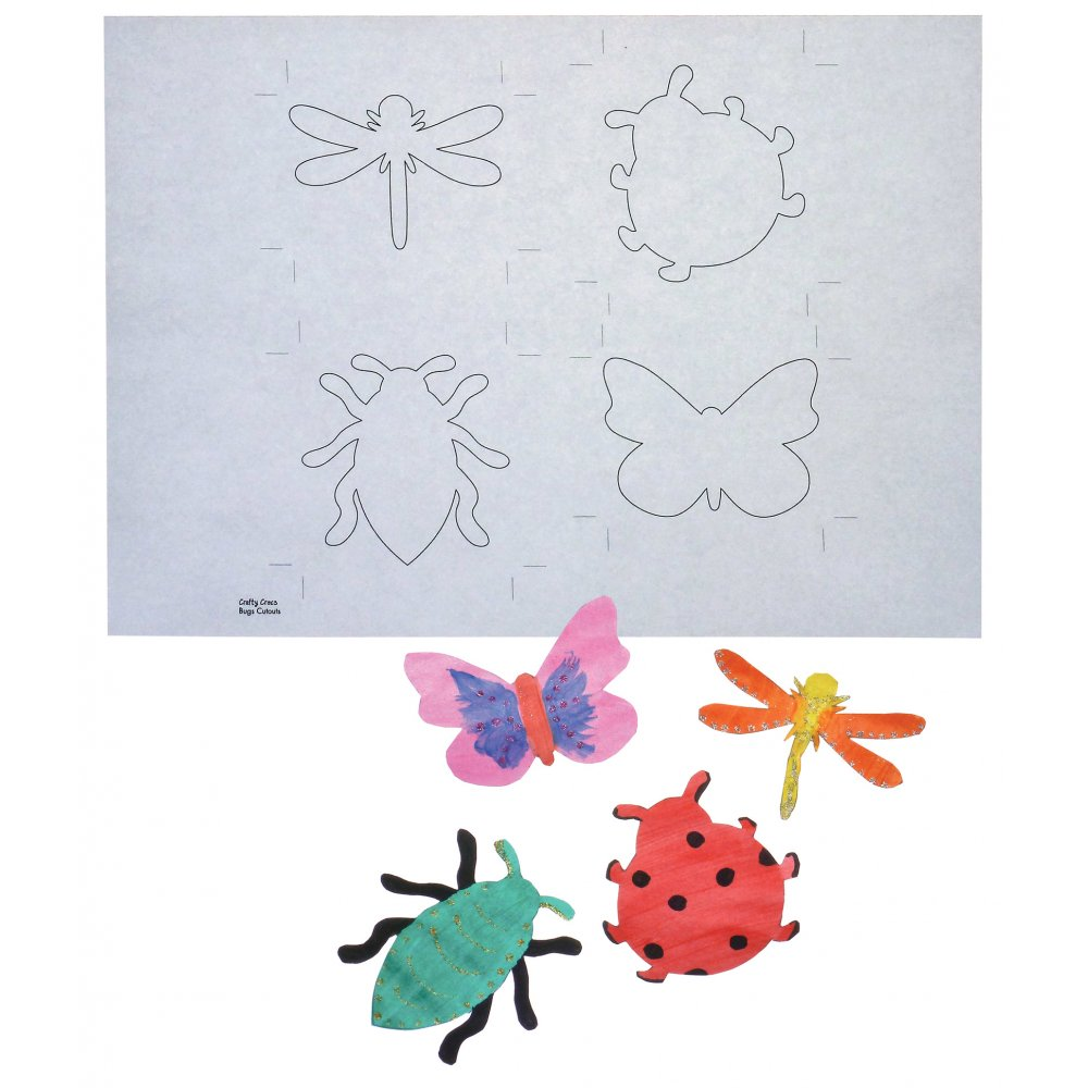 Insect Card Cut Outs To Colour In Colour In Card Crafts