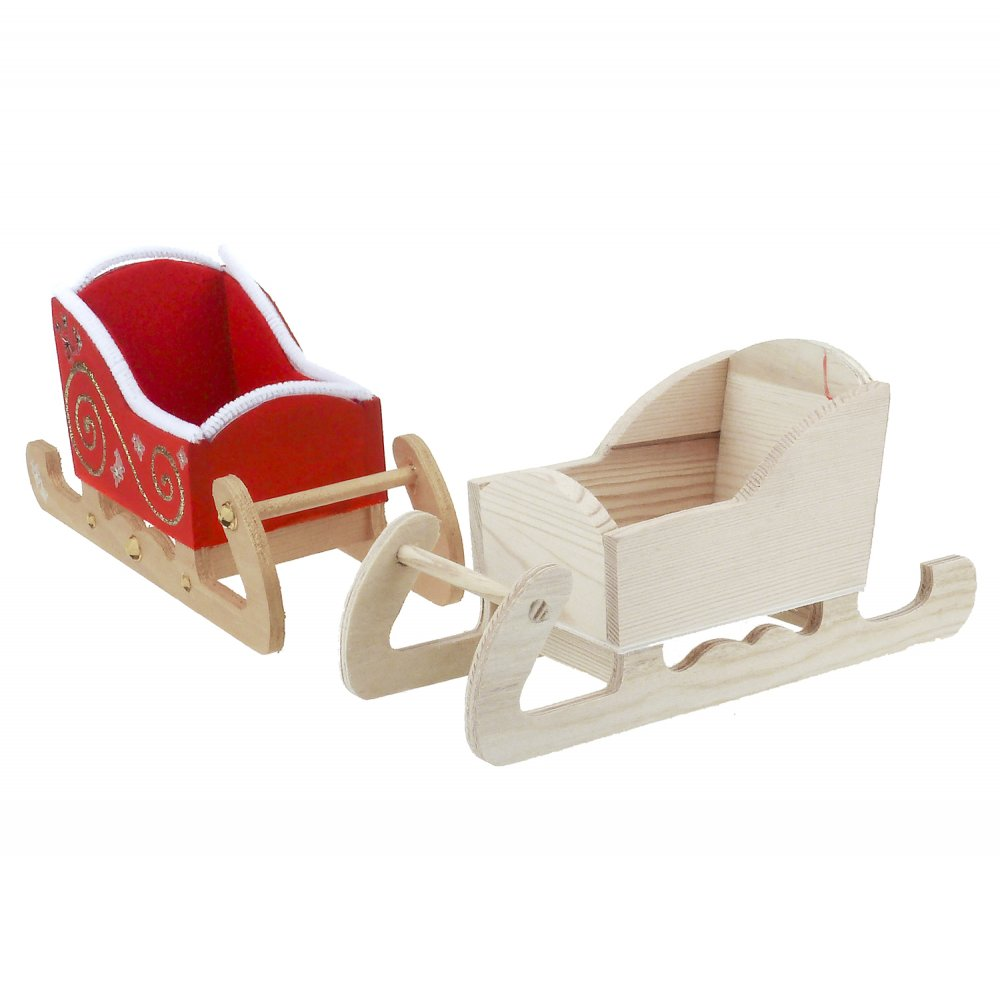 Home › Glass & Wood › Wooden Sleigh