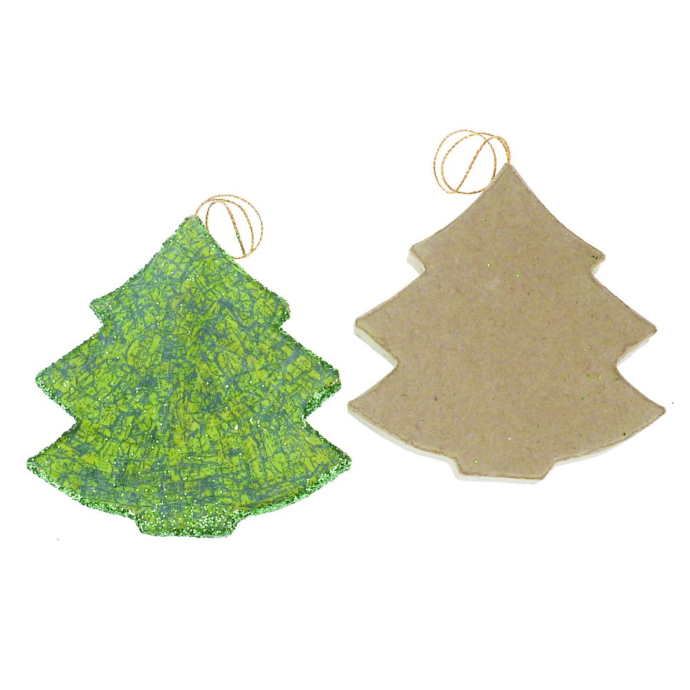 Paper mache christmas tree decopatch and paper mache for Paper mache christmas