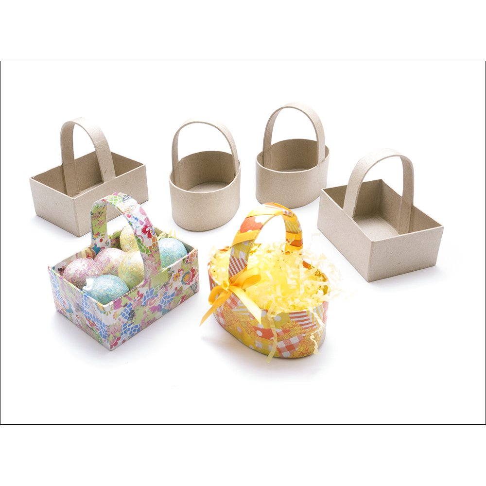 paper mache baskets 6 pack paper mache bases and