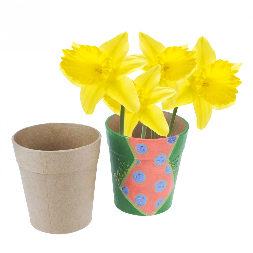 Paper Mache Flower Pot Decopatch And Paper Mache From Crafty