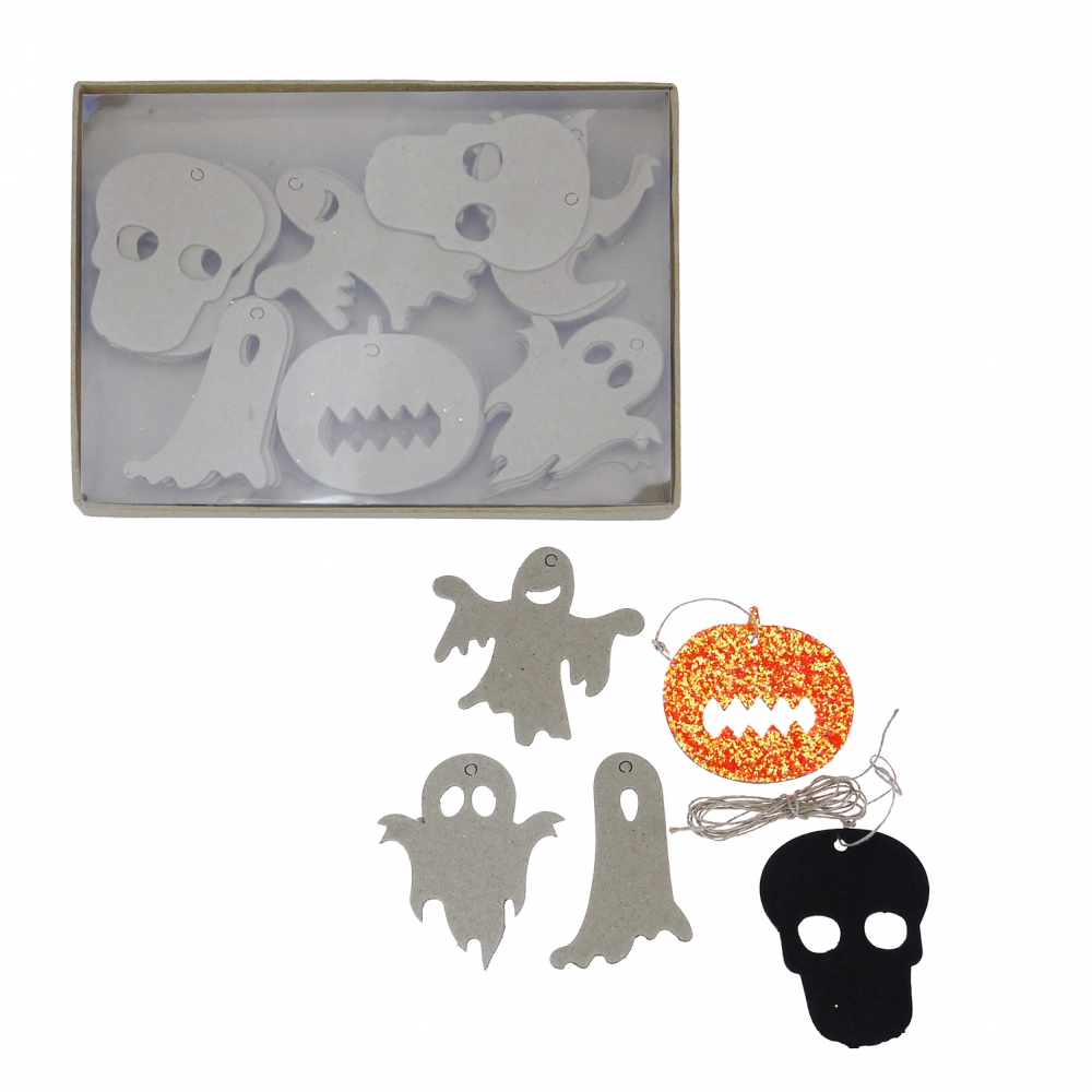 Papier mache halloween shapes pack of 60 for Paper mache objects