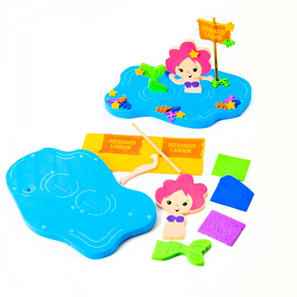 3d foam floating mermaid craft kit art and craft kits for Craft kits for preschoolers