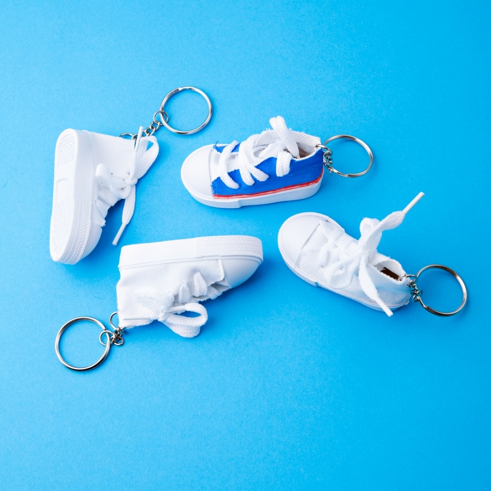 design your own canvas shoe keyring fabric from