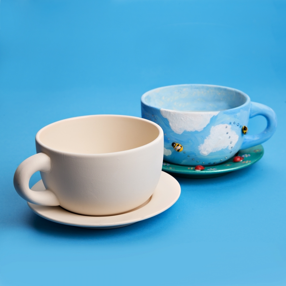 Ceramic Cup And Saucer Cup And Saucer To Paint Ceramic Crafts
