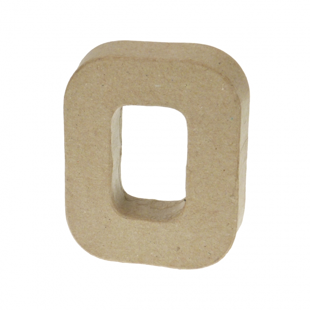 Paper mache letter o 203cm decopatch and paper mache for Mache letters