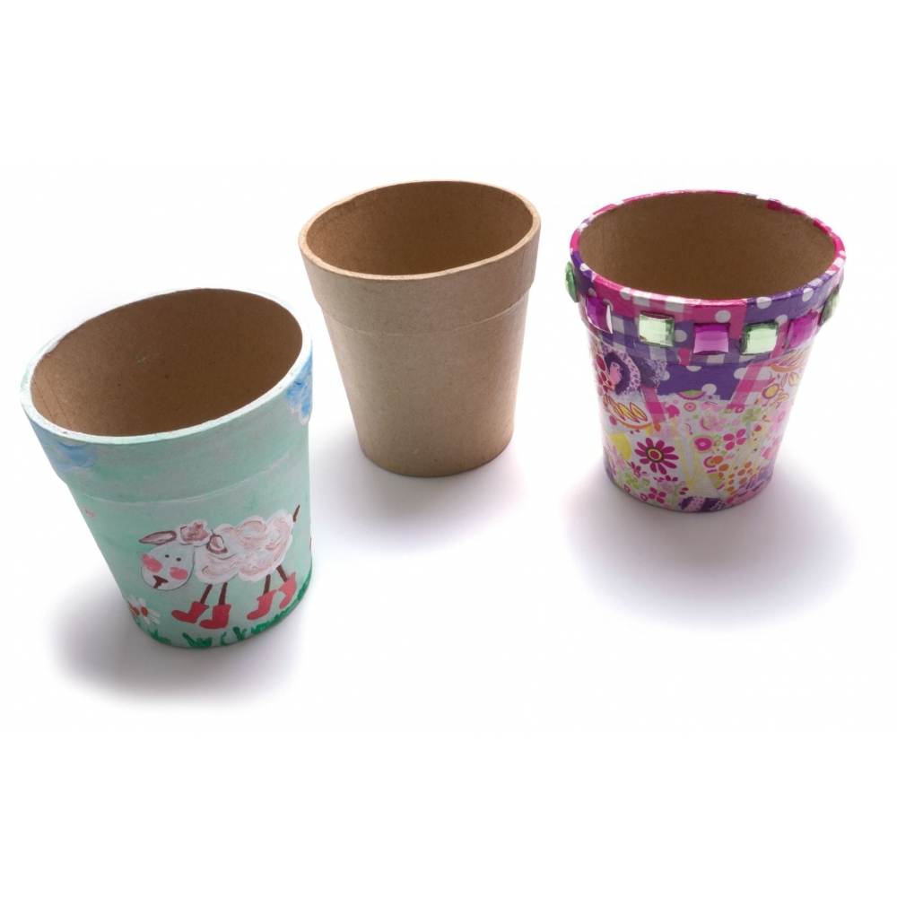 Paper mache flower pot decopatch and paper mache from crafty paper mache flower pot mightylinksfo Image collections