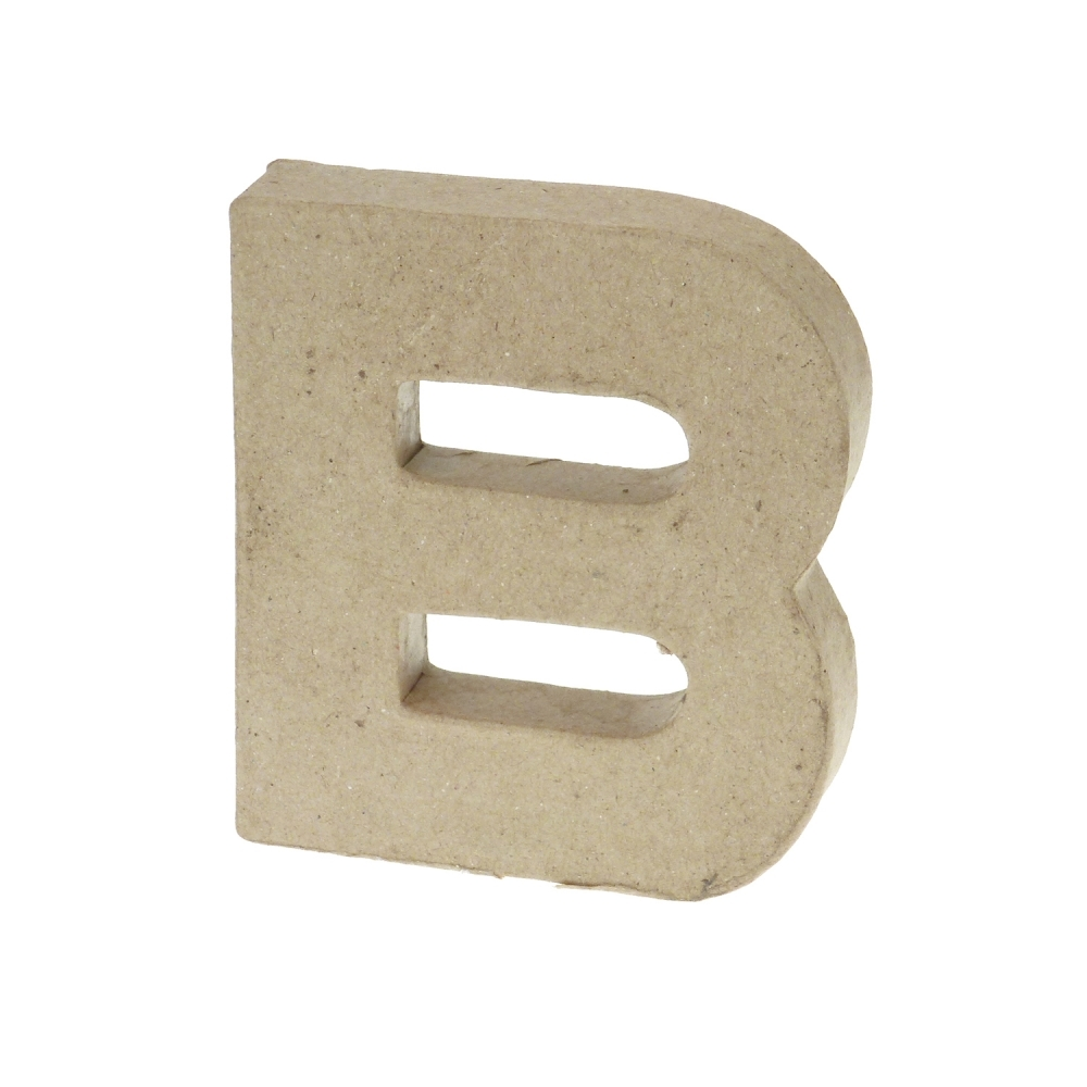 how to make small paper mache letters