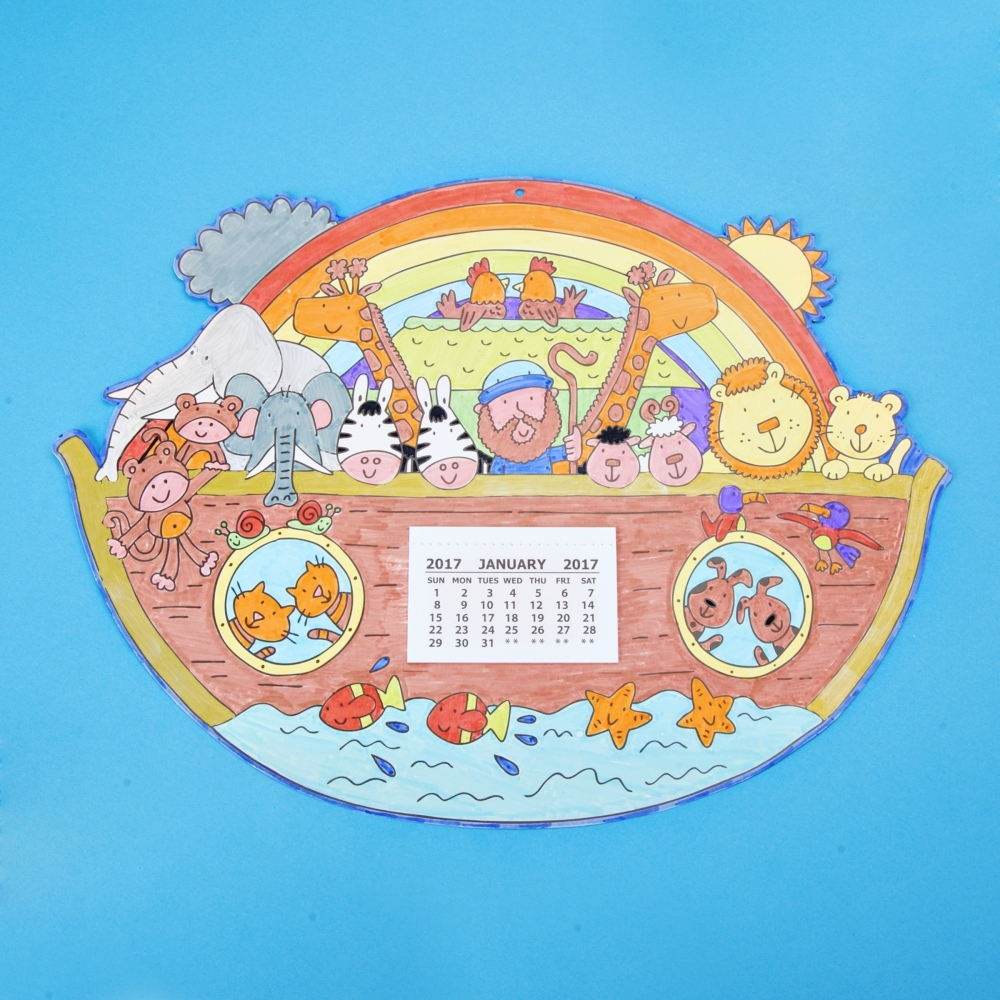 Noah 39 s ark calendar craft kits pack of 50 create a for The ark of craft