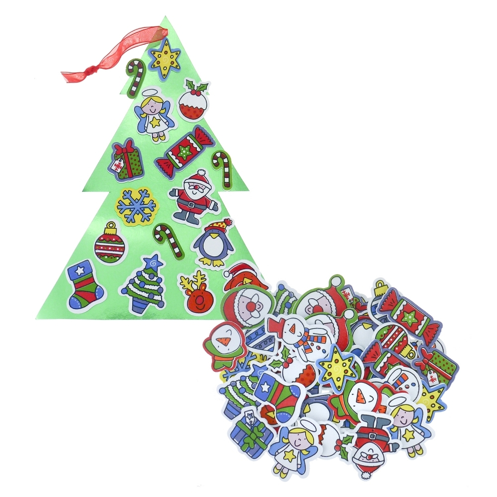 Christmas foam stickers 57 pack toppers stickers for Foam sheet christmas crafts