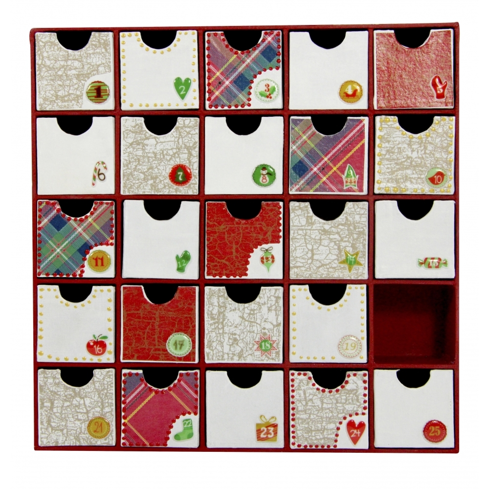 Paper mache advent boxes hd018 decopatch and paper Home decor crafts with paper