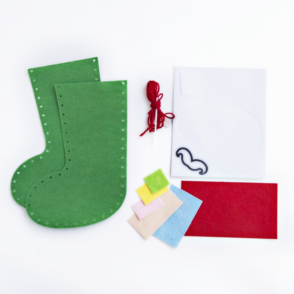 Christmas Santa Felt Stocking Kit Kits