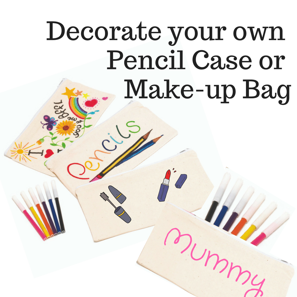 Pencil Case To Decorate Make Up Bag To Decorate Natural Cotton Bag