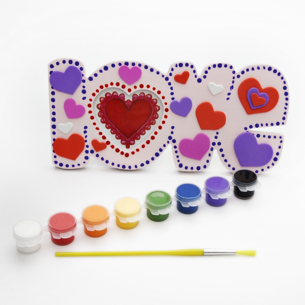 Love picture frame kit decorate your own photo frame for Decorate your own picture frame craft