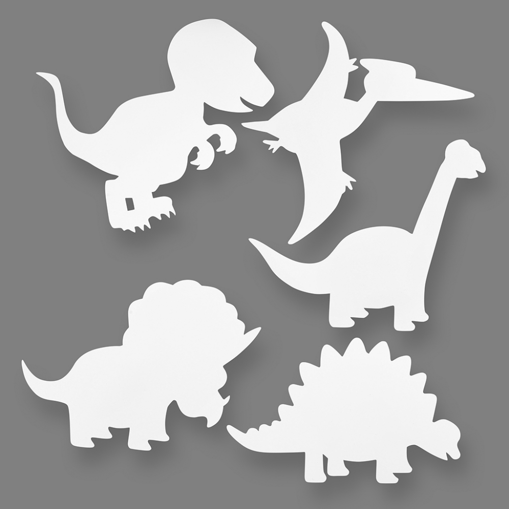 Dinosaur Card Cut Outs - Pack Of 16 - Colour Me In - Kits ...
