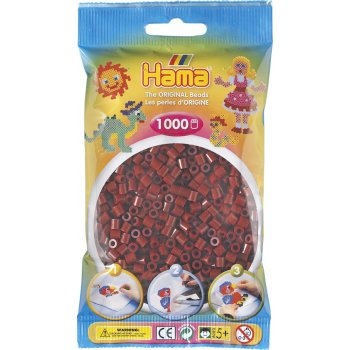Hama Beads Solid Colours 1000 Pack - 30 Burgundy