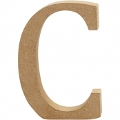 MDF Letter C - 13cm - Free Standing